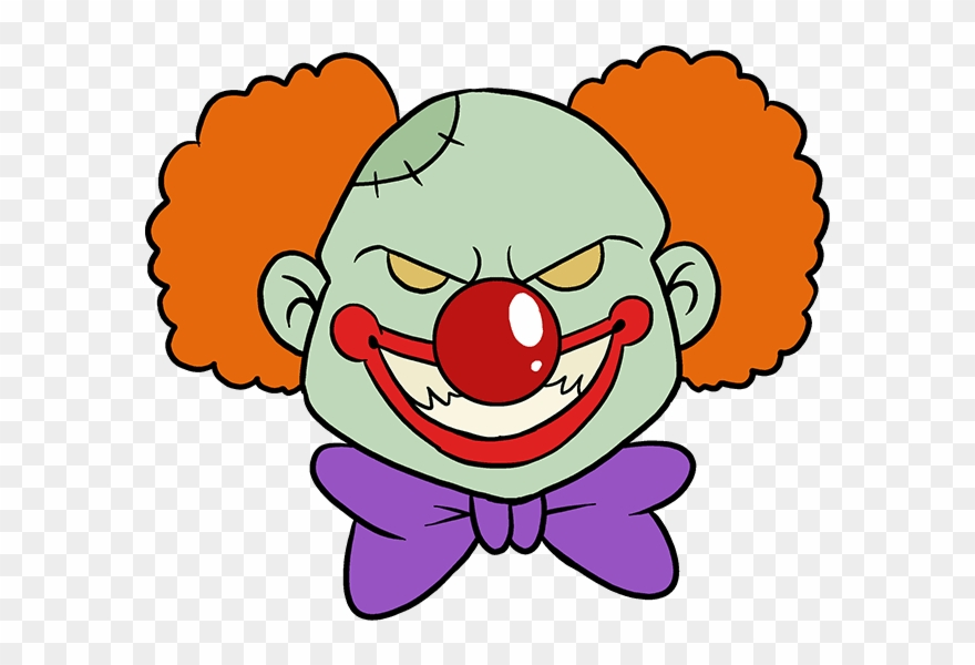 How To Draw Scary Clown.