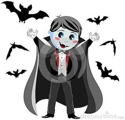 Vampire Kid Royalty Free Stock Photos.