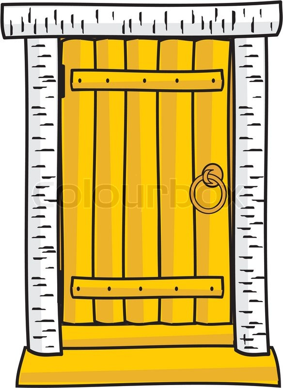 Scary Door Clipart.