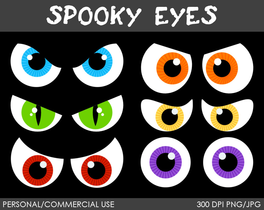 Scary Eyes Clipart Free.