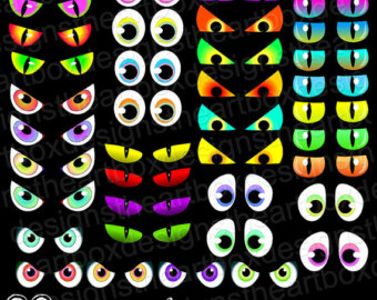 Free Clipart Scary Eyes.