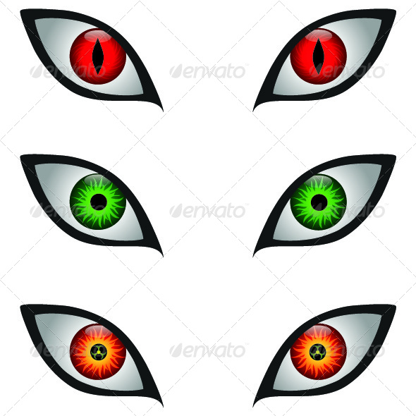Scary eyes cliparts.