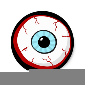 Scary Eyeball Clipart.