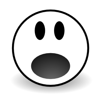 Scared Face Clipart Black And White.