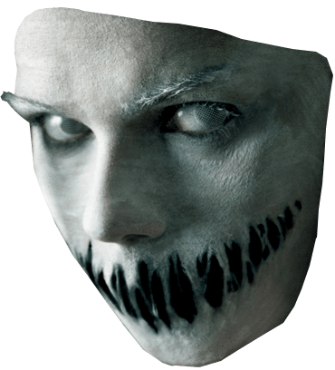 Scary Face Halloween png image.