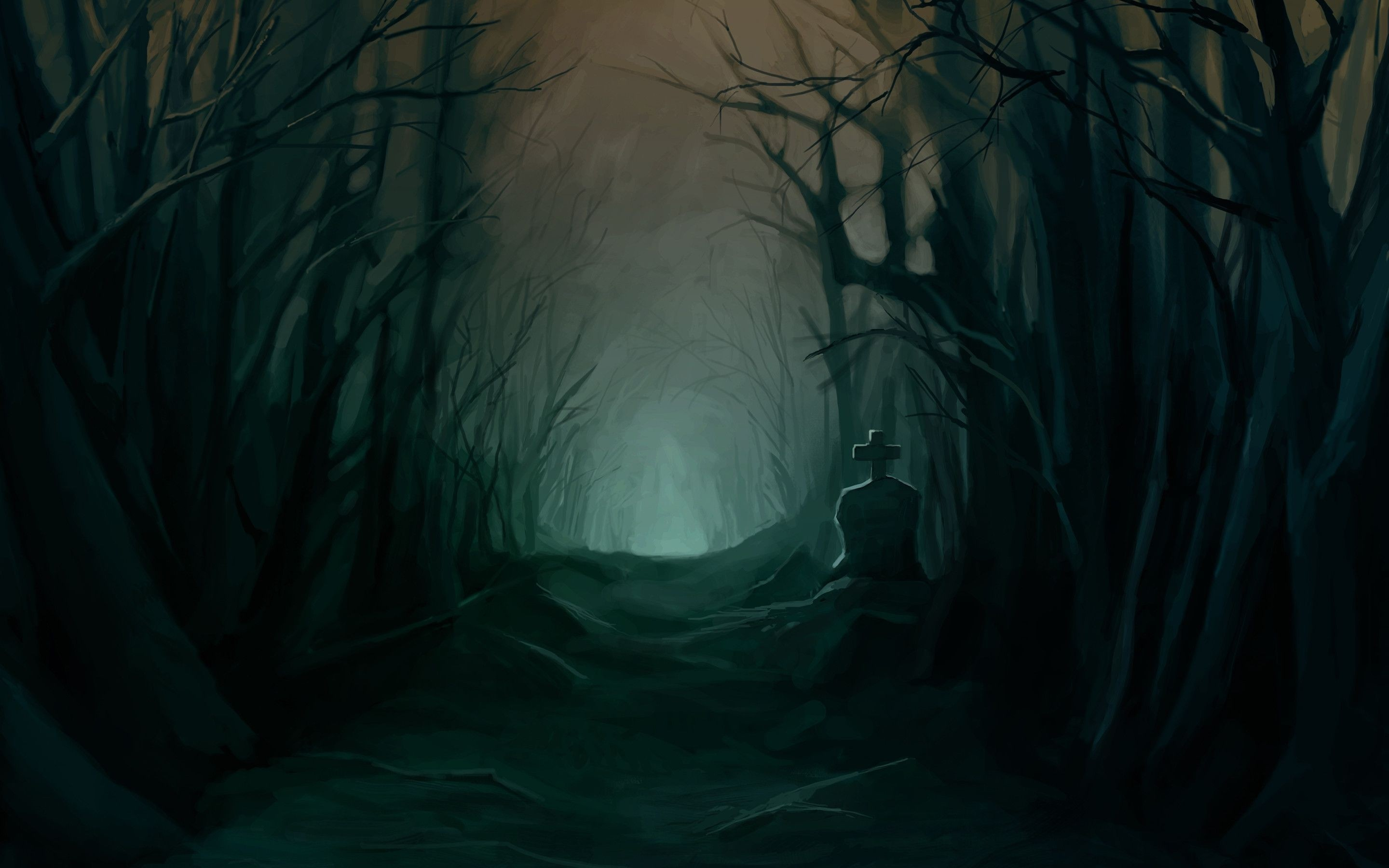 Dark Scary Forest Wallpaper (64+ images).