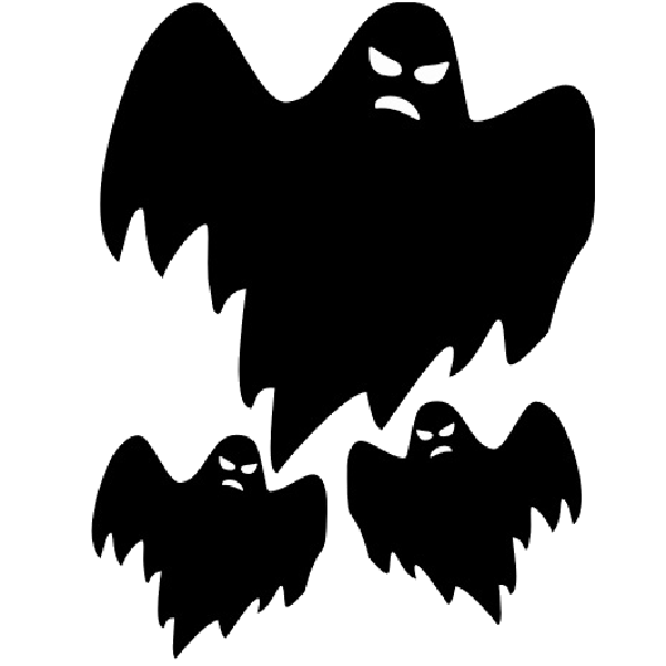 Scary ghosts halloween cartoon clip art.