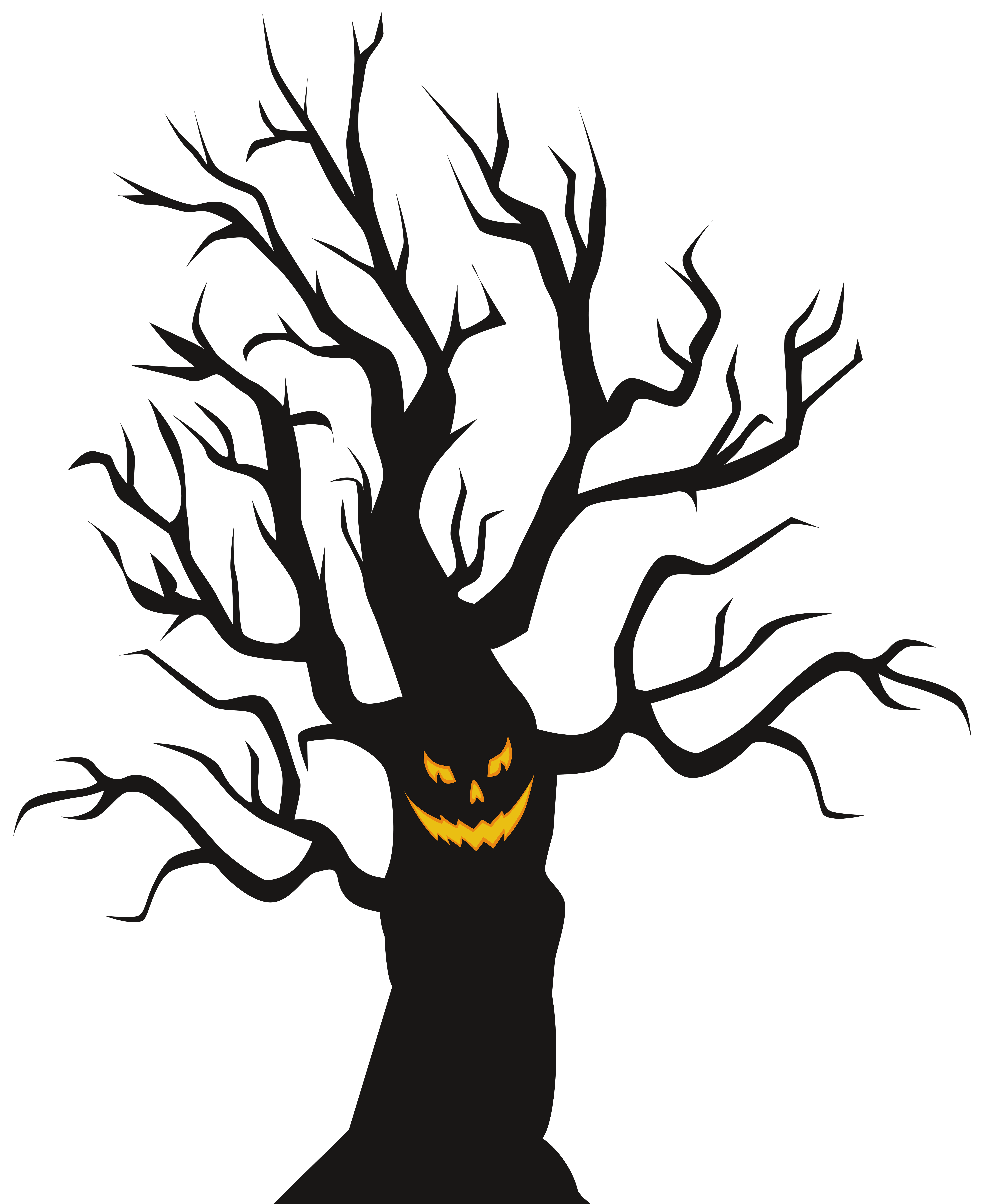 Scary halloween clipart clipart images gallery for free.