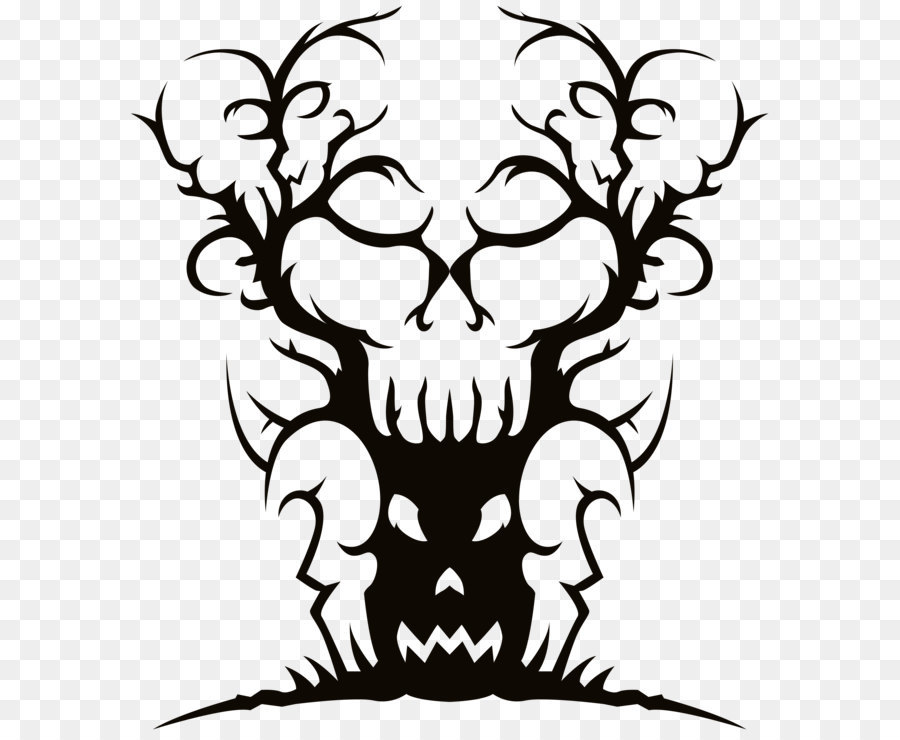 Download Free png Tree Spooky Halloween Clip art Scary.