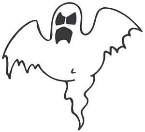 Scary Halloween Ghost Clip Art.
