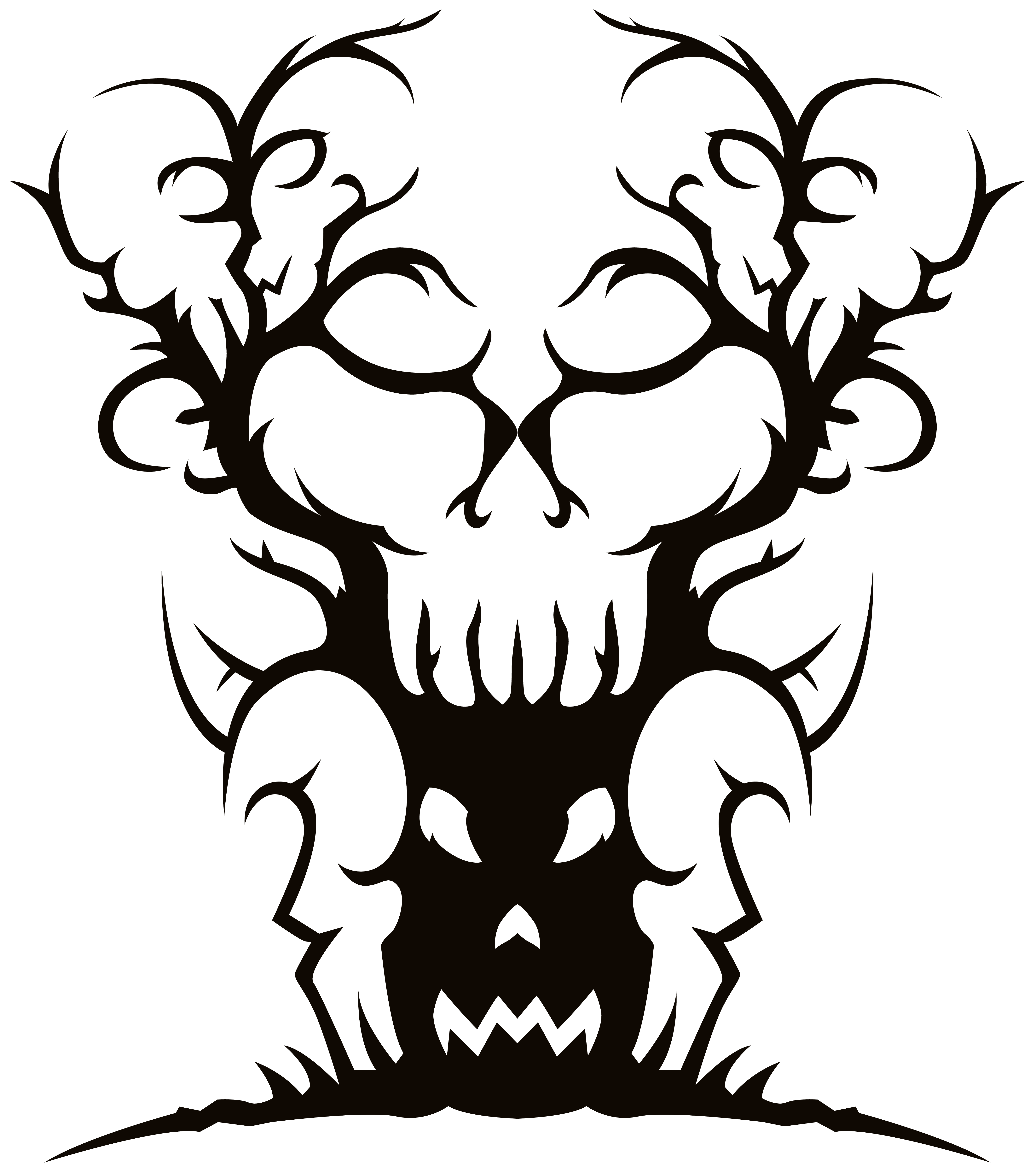 Scary Spooky Tree PNG Clipart Image.