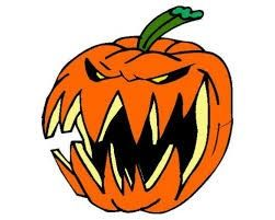 Scary pumpkin clipart image.