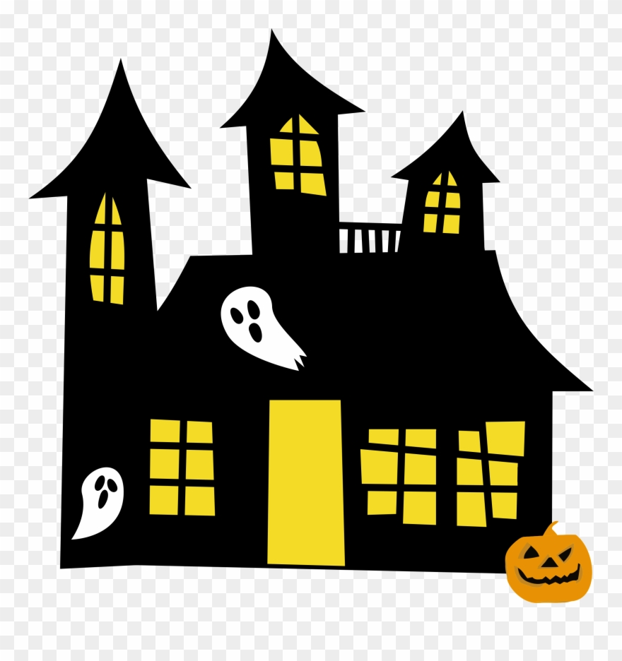 Hauntedhouse Yellowwindows Clipart Of Spooky.