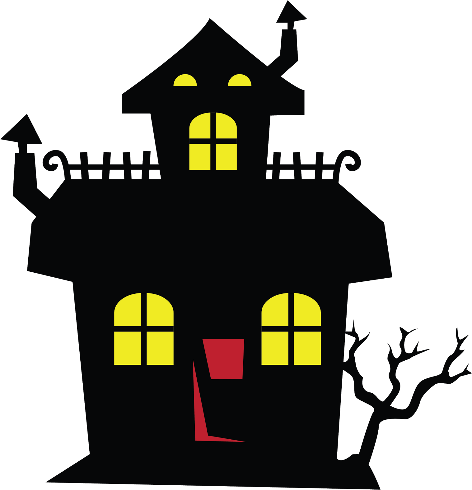 HD Haunted House Clipart Png.