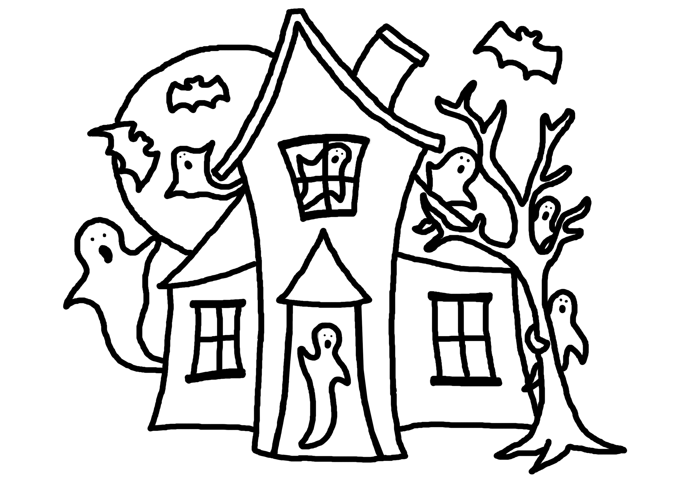 Scary House Black And White Clipart 20 Free Cliparts