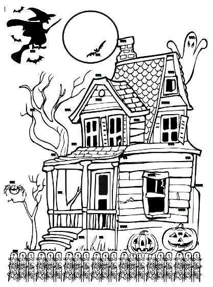 Similiar Black And White Cartoon Haunted House Keywords.