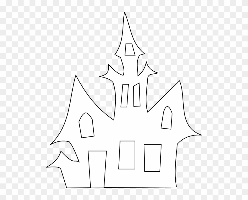 Scary House Silhouette Clip Art At Clker.