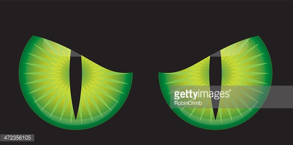 Scary Monster Eyes Vector Art.