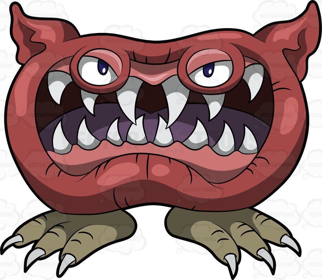 Scary monster clipart 1 » Clipart Portal.
