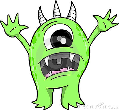 Scary monsters clipart » Clipart Station.