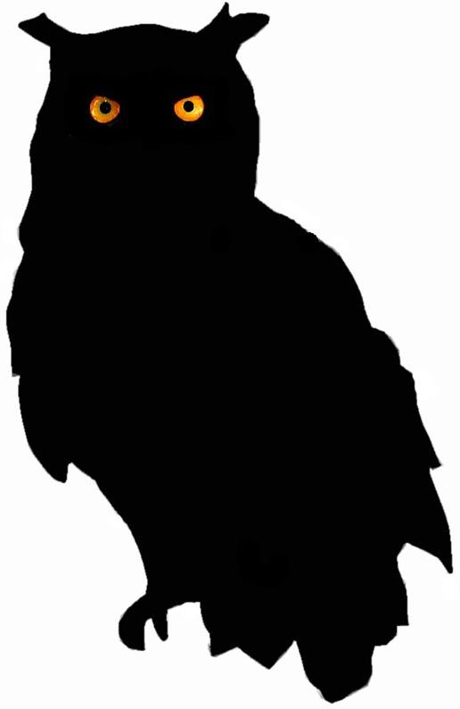 owl silhouette.