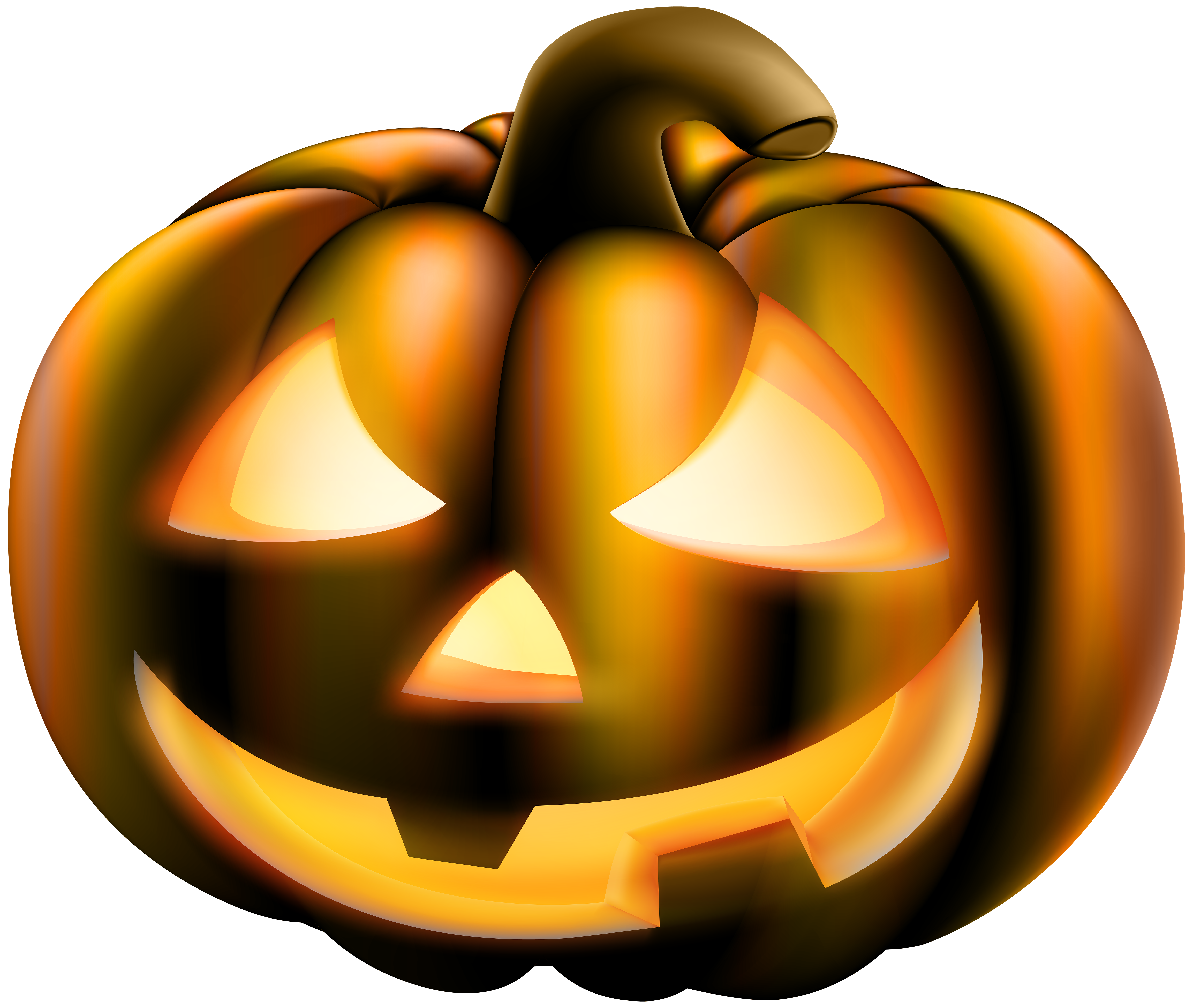 Halloween Scary Pumpkin PNG Clip Art Image.