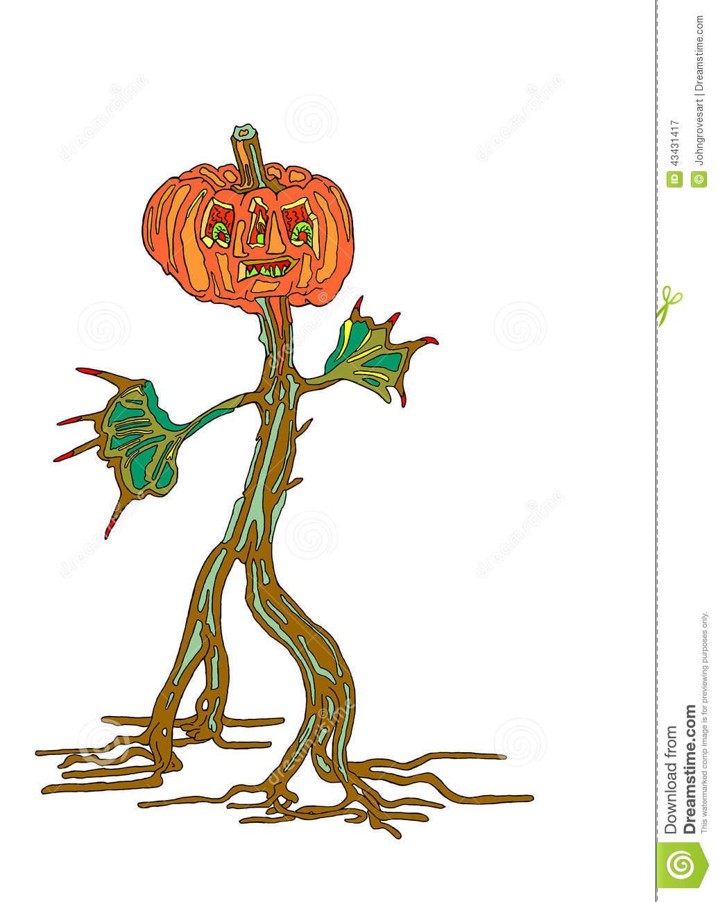 Pumpkinman Stock Illustration.