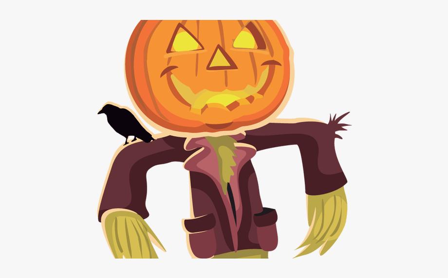 Scary Scarecrow Face Clip Art.