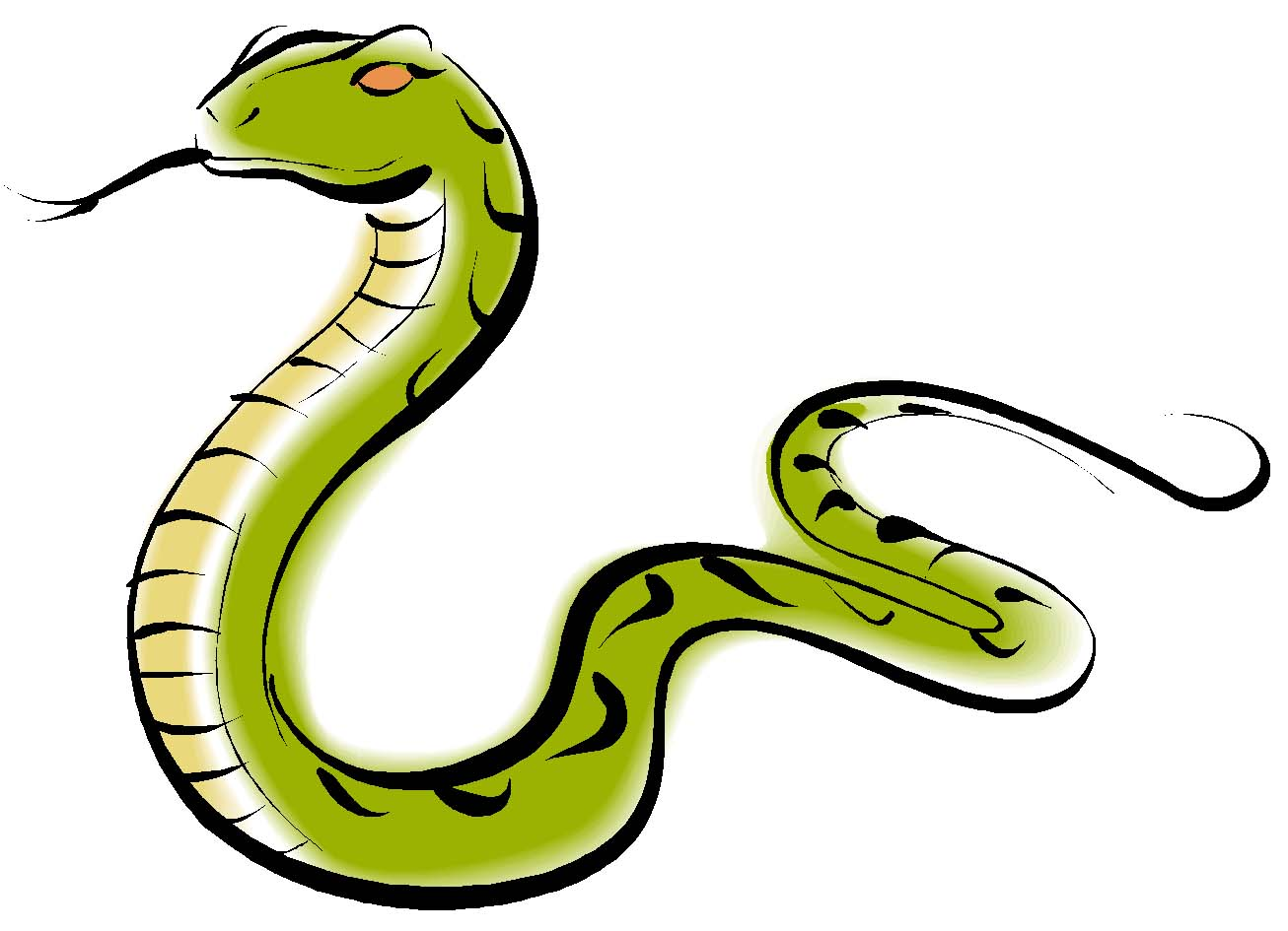 Scary snake clipart.