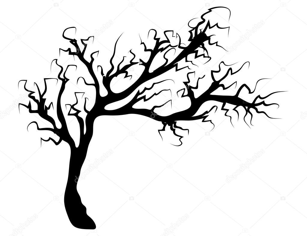 Creepy Dead Tree Drawing.