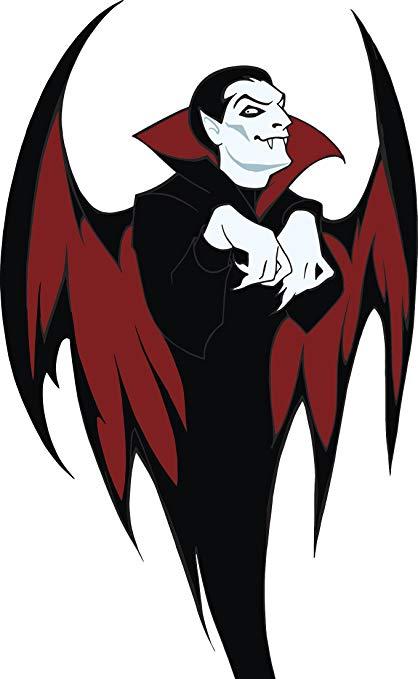 Amazon.com: Creepy Dracula Vampire with Bat Wings Vinyl.