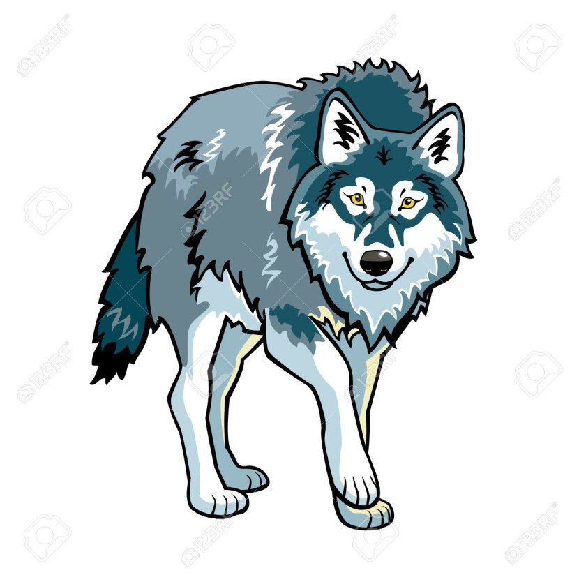 8806 Wolf free clipart.