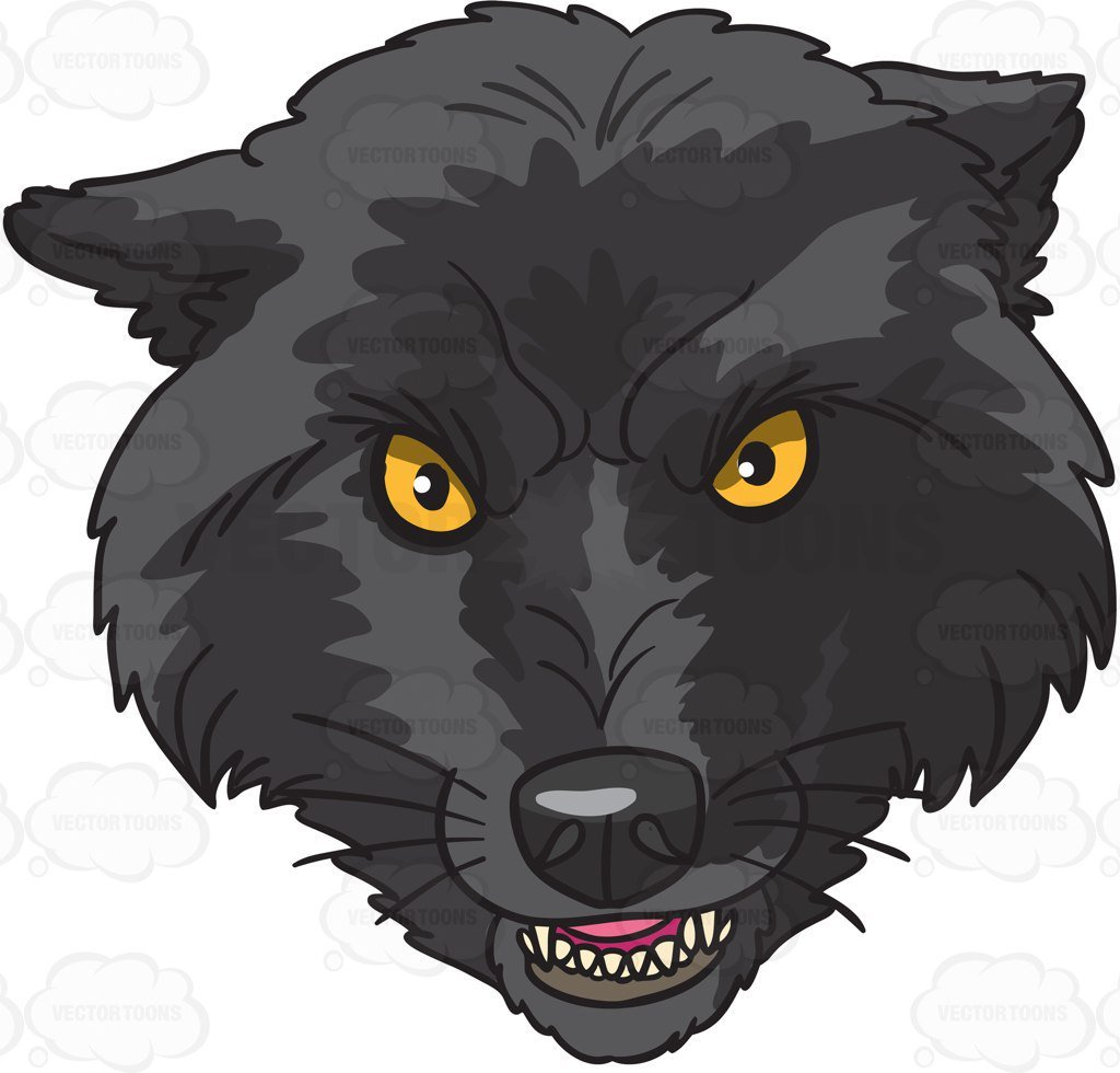 A Scary Wolf Head.