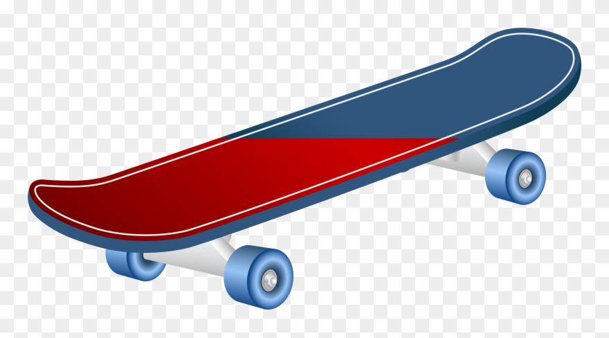 Transparent Background Skateboard Clip Art.