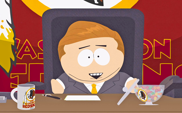 South Park' trolls the Washington Redskins with scathing promo.