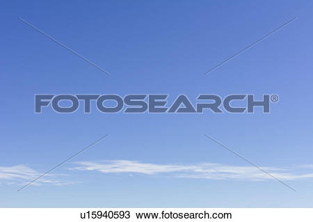 Stock Photo of Clear blue sky with scattered clouds u15940593.