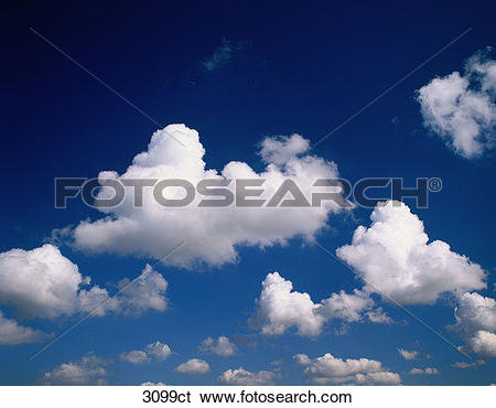 Stock Images of Scattered clouds. 3099ct.