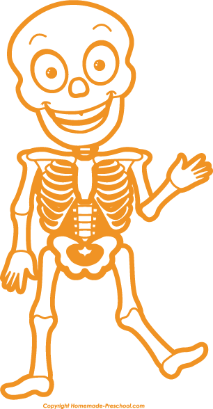 Christmas Skeleton Clipart.