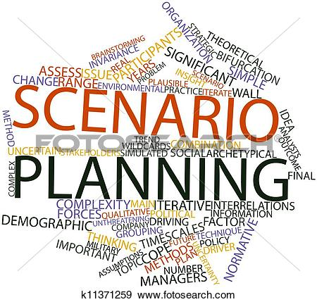 Stock Illustration of Scenario planning k11371259.