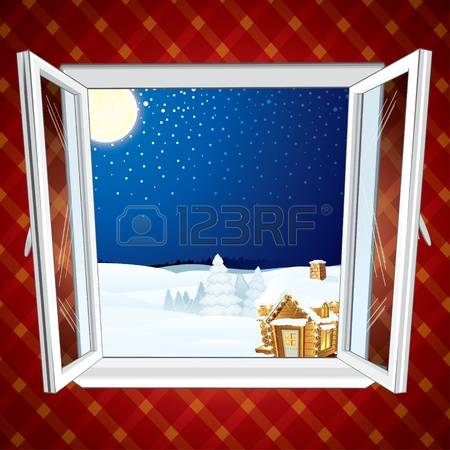 1,450 Winter Window Scene Stock Vector Illustration And Royalty.