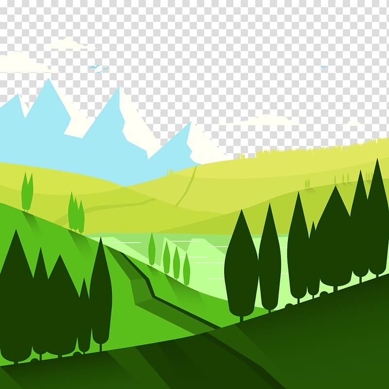 Nature Landscape Euclidean , Mountain scenery transparent.