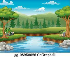 Natural Scenery Clip Art.