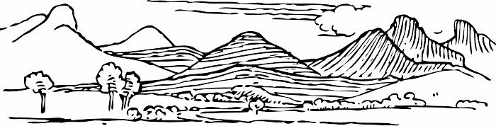 Mountain black and white black and white clip art mountain.
