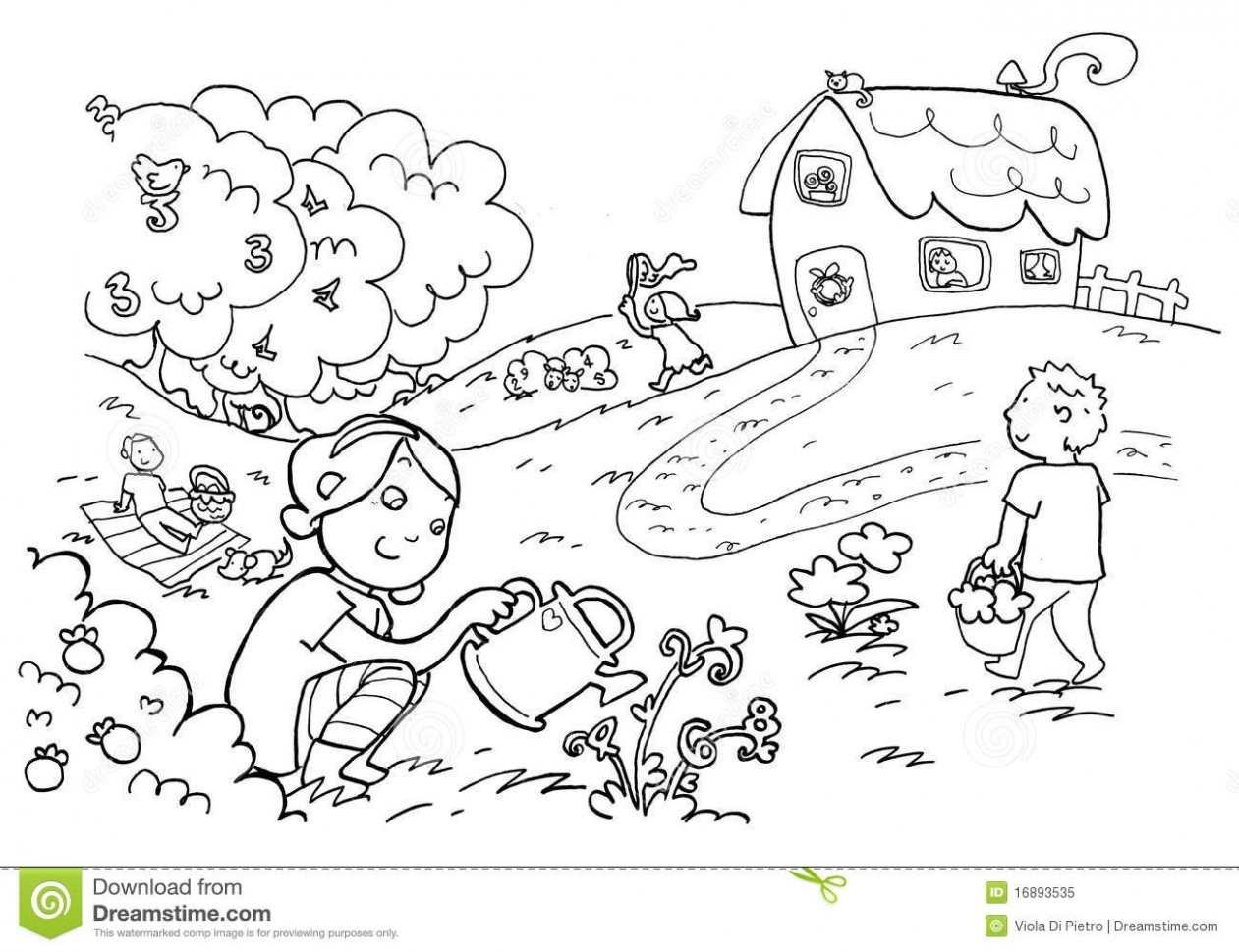 Scenery clipart black and white 6 » Clipart Station.