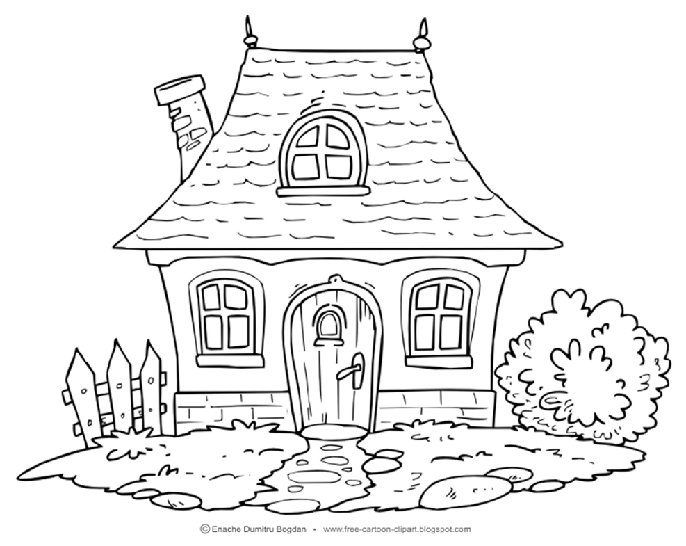Black and white scenery clipart.