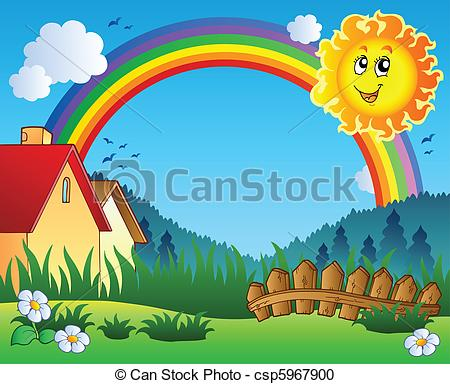 Scenery of nature clipart.