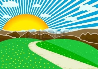 Scenic landscape clipart.