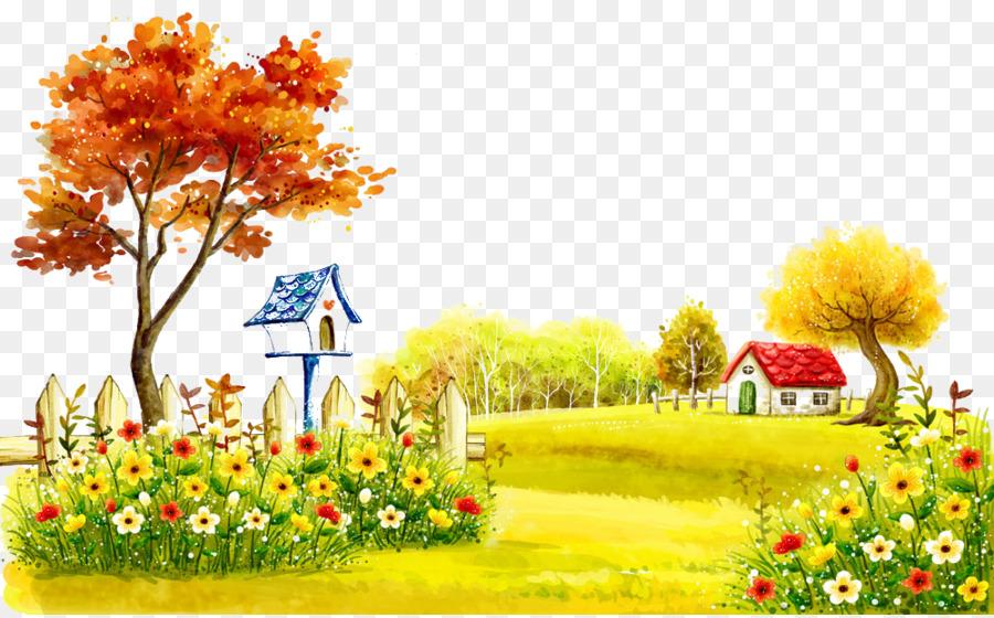 Floral Flower Background png download.