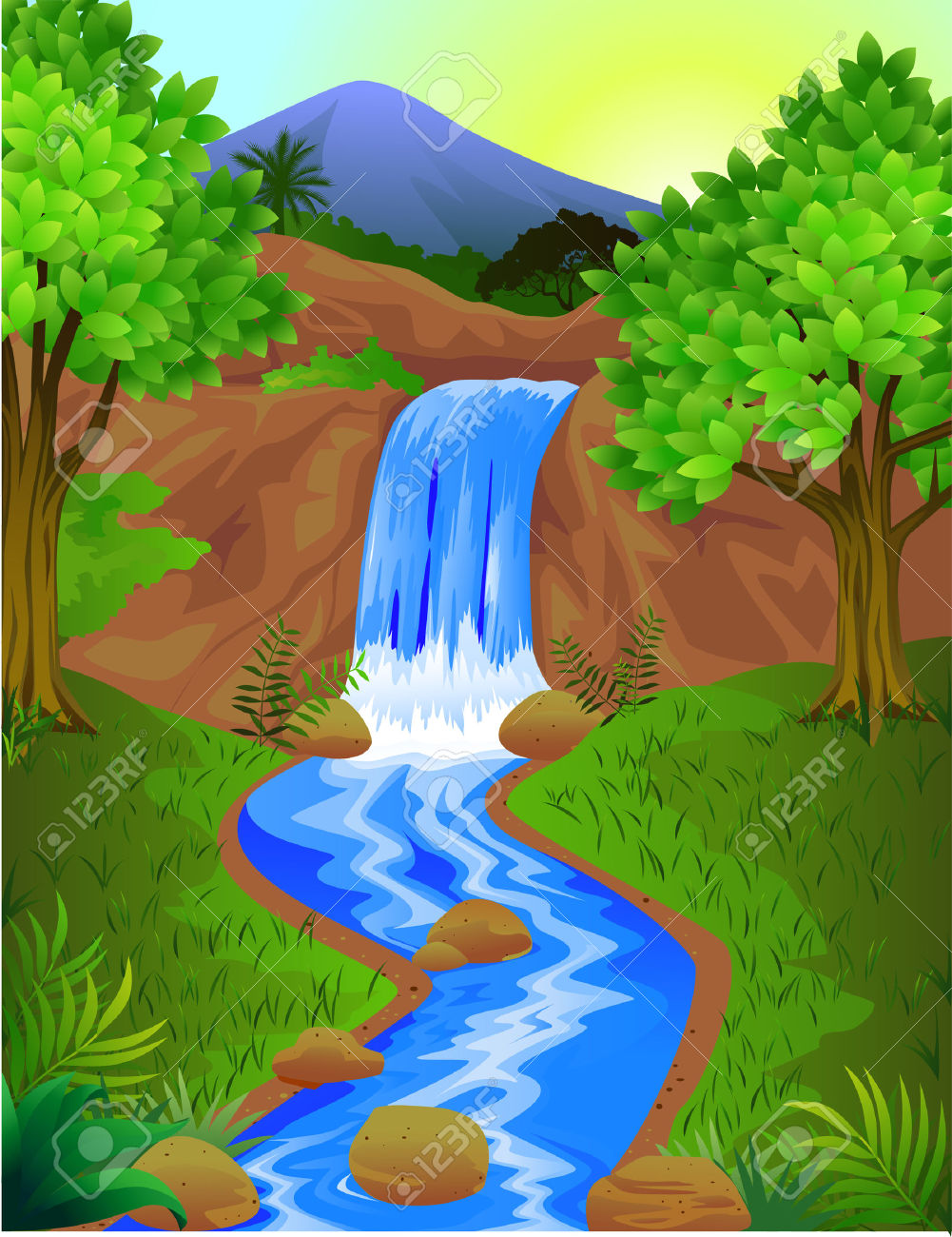 Beautiful scenery clipart.