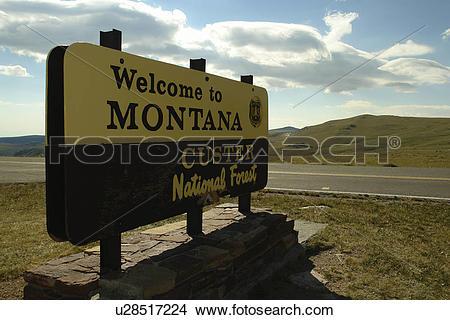 Stock Photo of MT, Montana, Beartooth Scenic Highway, Beartooth.